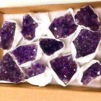 1pc Natural Amethyst Geode Crystal Cluster Quartz Specimen Mineral Reiki Healing