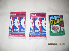 Collectable Assort of 9 Sports Trading Card Pk's. & 3 Simpson Trading Card Pk's.