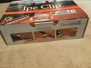 """IPE CLIP EXTREME 3/32"""" GAP SPACING Hidden Deck Fasteners by DeckWise"""