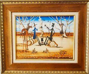 """Peter Browne Original Oil Painting - """"Breakfast With Bushrangers"""""""