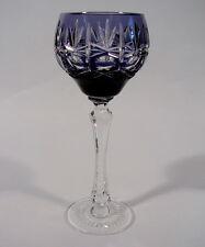 Römer Weinglas Überfangglas Violett Bleikristall mundgeblasen geschliffen K L Gl