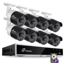 Loocam 1080P HD 8CH Surveillance Security Camera System 8x2.0MP DVR with 2TB HDD