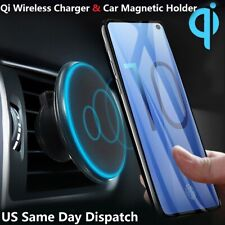 360° Car Mount Qi Wireless Charger Magnetic Holder For Samsung S10 S10+ S10E S9