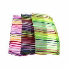 Colors Strip Nylon Net Cosmetic Makeup Wash Bag Wallet Case f.Coin Cellphone Mp4