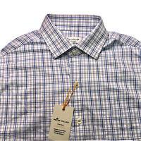 Peter Millar Summer Comfort Button Down Mens L Shirt Long Sleeve Checked Plaid