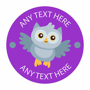 80 Personalised Teacher Reward Stickers for Pupils You're a Star in purple owl