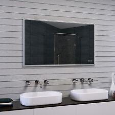 Lux-aqua Design badspiegel mit Rahmen gebürstetem Aluminium 120x70cm MAU17-120