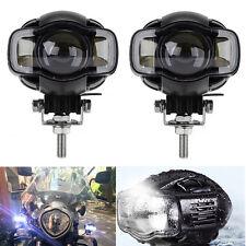 Zusatzscheinwerfer 2x Motorrad LED Scheinwerfer Fernlicht Lampe Universal + USB