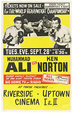 1976 Muhammad Ali vs. Ken Norton World Heavyweight Title Close Circuit Broadside