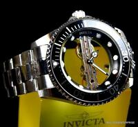 Invicta Pro Diver Ghost Bridge Mechanical Skeleton Steel Black 47mm Watch New