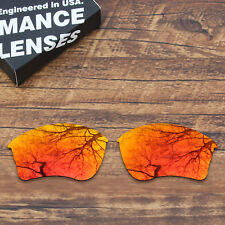 T.A.N Polycarbonate Replacement Lenses for-Oakley Half Jacket XLJ - Orange Red