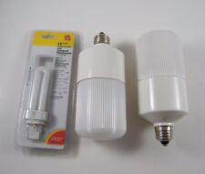 (2) PROLIGHT 50 WATT LIGHT Q-LUX, RELAMP TO 13 WATT, NOS, SHOW SHELF WEAR
