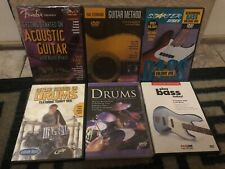 (6) LEARN HOW TO PLAY AN INSTRUMENT DVD'S, GUITAR/BASS/DRUMS, 2 ARE NEW-SEALED