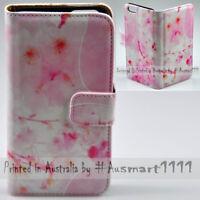 For LG Series Mobile Phone - Sakura Pink Theme Print Wallet Phone Case Cover
