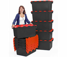 80L Brand new removal crates plastic containers boxes red and black x 10