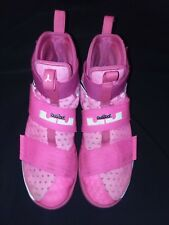 Nike Lebron Soldier 10 Size 8.5 Pink Mens Basketball shoes high tops.