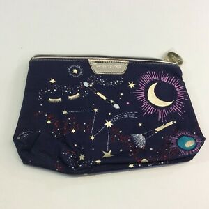 Estee Lauder Printed Cosmetic Makeup Pouch Bag Travel Case NWOT Stars Moon
