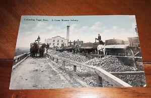 Idaho Falls, Idaho Postcard-Unloading Sugar Beets