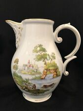 Hochst Pastoral Hand-Painted Porcelain Coffee Pot W/out Lid Made In Germany New