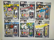 6PCS Tech Deck 96mm Fingerborad Skateboard Chocolate 1031 Black Label E32A