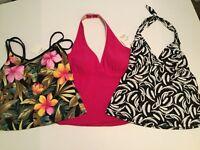 NWT.Nylon,Stretch,Women's Swim Tankini Top with Bra Padded.Sz.12,10.$59.99