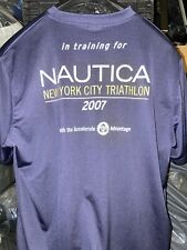 used Nautica Dark Blue Dri Fit T Shirt Large Limited  00004000 Edition Workout Exercise