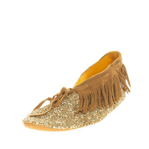 RRP €105 ANNIEL Booties EU 37 UK 4 US 7 Glitter Fringe Trim Laces Made in Italy