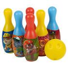 infantil Bolos Set Disney Personajes Pins Juguete Interior Juego de Pelota