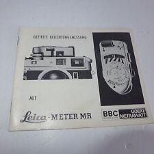 Ausfürliche Beschreibung & Bedienung  für Leicameter MR alte  Leica Kamera M 3