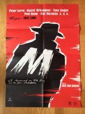 M (Kinoplakat ´60) - Peter Lorre / Theo Lingen / Fritz Lang