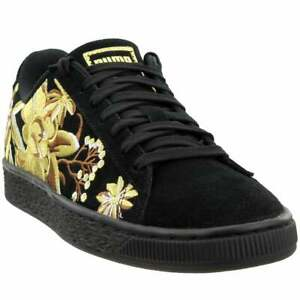 Puma Suede Hyper Embroidery Floral Lace Up  Womens  Sneakers Shoes Casual   -