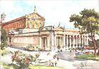 CARTOLINA - ROMA - BASILICA DI S. PAOLO - ILLUSTRATORE ALDO RAIMONDI - 1950