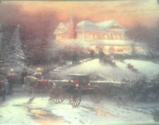 Victorian Christmas II Print by Thomas Kinkade in 11x14  Matte with COA