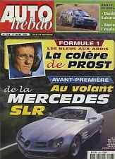 AUTO HEBDO n°1228 du 1er Mars 2000 SLR VISION FORMULE AUDI PALMER SAFARI RALLY
