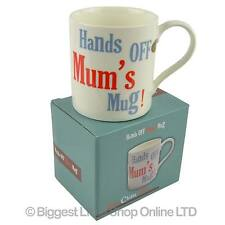 NEW Hands OFF Mum's MUG CUP Fine China Gift Boxed Mothers Day Christmas Birthday