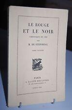 LE ROUGE ET LE NOIR chronique de 1830 T1 Stendhal