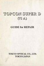 TOPCON SUPER D REPAIR MANUAL  FREE SHIP