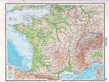 Carte de 1961 ~ france ~ tours marseille paris bordeaux lyon