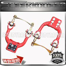 92-95 Honda Civic Acura FRONT UPPER CONTROL CAMBER ARMS RED+ Bushing Kits