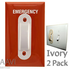 Electrical Emergency Home Wall Kid Light Switch Safety Guard Protector 2Pk Ivory