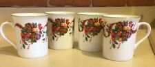 New listing Set Of 4 William James Christmas Tartan Ribbon And Fruit Mugs