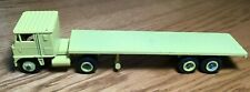Winross White 7000 Tractor/Flatbed Trailer 1/64