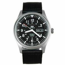 Seiko 5 Sports Automatic Black Canvas Strap Mens Watch SNZG15K1 RRP £199