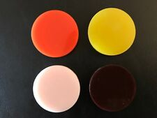 4 Pcs India Tournament Carrom Carom Board Coins Plastic Striker Flicker Smooth
