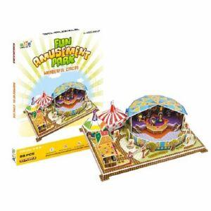 3D Puzzle Building Set Fun Amusement Park Series Create A Pirate Ship  - Circus