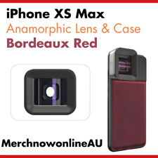 iPhone XS Max Anamorphic Lens & Red Genuine Leather Case - Moment Alternative