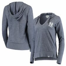 New York Yankees MLB Women's L Waffle Knit V-Neck Heathered Pullover $70