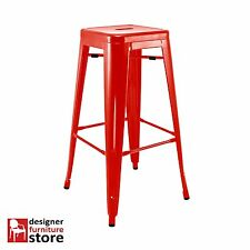 Replica Xavier Pauchard Tolix Metal Stool (76cm) - Red