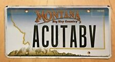"""MONTANA VANITY LICENSE PLATE """" A CUT ABOVE """"  EXCELLENT BEAUTY SALON HAIR BARBER"""