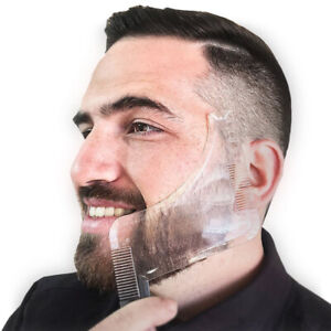 Men Beard Comb Shaping Tool Styling Template Shaper Stencil Trimming Transparent